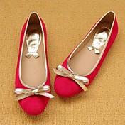 Mujer Zapatos Ante Primavera Verano Otoño Tacón Plano Pajarita para Casual Negro Rojo Marrón Azul Amarillo