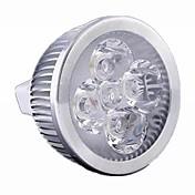 5W GU5.3(MR16) LEDスポットライト MR16 4 LEDの ハイパワーLED 500lm 温白色 クールホワイト Warm: 2800-3200K ; Cool: 6000-6500KK 調光可能 DC 12 AC 12