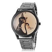Mujer Reloj de Vestir Reloj de Moda Reloj de Pulsera / Cuarzo PU Banda Gato Marrón