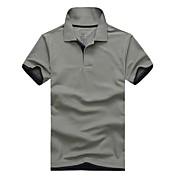 メンズ夏の綿半袖ブランドのポロシャツ男性のシャツlesmart