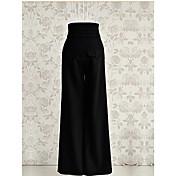 Mujer Vintage Microelástico Perneras anchas Vaqueros Pantalones,Perneras anchas Vaqueros Un Color