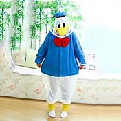Kigurumi Pijamas Pato Disfraz Vellón de Coral Kigurumi Leotardo / Pijama Mono Cosplay Festival / Celebración Ropa de Noche de los Animales