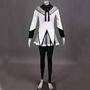 に触発さ 魔法少女まどか☆マギカ Homura Akemi ビデオ ゲーム コスプレ衣装 コスプレスーツ パッチワーク ブラウス 上着 スカート パンツ 弓