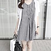 Mujer Clásico Corte Ancho Vestido - Estilo retro, Cuadrícula Mini
