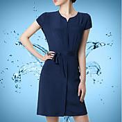 WOMEN - カジュアル - ドレス ( レーヨン スタンド - 半袖