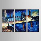 手描きの 抽象画 近代の 3枚 ハング塗装油絵 For ホームデコレーション