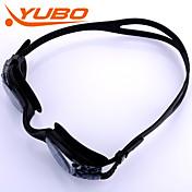 Gafas de natación Anti vaho Tamaño Ajustable Anti-UV A prueba de dispersión Correa anti deslizante Impermeable Gel de sílice PC Negro