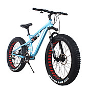 ファットバイク サイクリング 24スピード 26 inch/700CC SHIMANO 65-8 ダブルディスクブレーキ スプリンガーフォーク リアサスペンション ハードテールフレーム 普通
