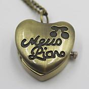 ロマンチックなハート形の懐中時計セーターのネックレス
