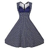 WOMEN - ビンテージ/セクシー/パーティー - ドレス ( コットンブレンド/ポリエステル 半袖