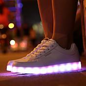 メンズ 靴 レザーレット 冬 ライトアップシューズ 編み上げ 用途 スポーツ ホワイト ブラック