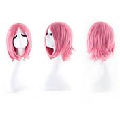 女性 人工毛ウィッグ ウェーブ ピンク コスチュームウィッグ