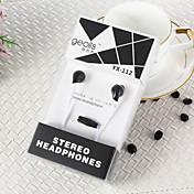 geolisのYX-112高品質の3.5ミリメートルのノイズキャンセリングマイク耳のイヤホンでiphoneや他の携帯電話用