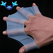 traje de baño de la mano de la aleta de silicona aletas palmeadas mujeres entrenamiento guante hombres hijos palmeados guantes para el