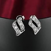 Dame Klipøreringe kostume smykker Zirkonium Kvadratisk Zirconium Sølvbelagt Smykker Til Bryllup Fest Daglig Afslappet