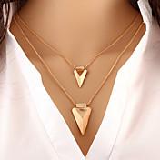 Mujer Triángulo Personalizado Básico Moda Europeo Collares en capas Legierung Collares en capas , Ocasión especial Cumpleaños Diario