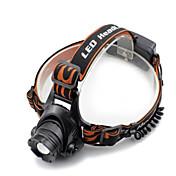 Black headlamp Linternas de Cabeza Faro Delantero LED 2000 lm 4.0 Modo Cree XM-L T6 con cargador Zoomable Impermeable Control de Ángulo