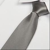 Hombre Todas las Temporadas Fiesta Trabajo Casual Corbata,Sólido Gris