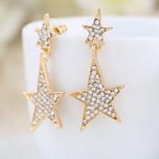 スタッドピアス 高級ジュエリー 模造ダイヤモンド 合金 ジュエリー のために 結婚式 日常 カジュアル 2 個