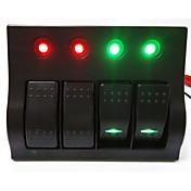 Lossmann caliente! Panel de interruptores coche panel de interruptor basculante / barco de 4 vías de alta calidad