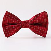 男性のパーティー/夕方の結婚式の白赤い格子縞の正式な弓ネクタイ