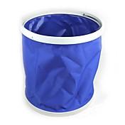 riego de jardines 9l multifuncional de lona plegable portátil cubo azul