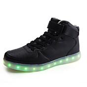 Hombre Zapatillas de deporte Confort Zapatos con luz PU microfibra sintético Otoño Invierno Casual Fiesta y NocheCon Cordón Cinta