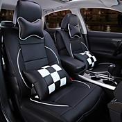 元の車の座席の新しいフルレザーチェック柄車のシートカバークッション自動車内装保護
