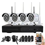 yanse® plug and play NVR inalámbrico kit p2p 960p HD cámara ip wifi sistema de cámara grande de la visión nocturna del IR exterior /