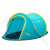 Makino 2人 テント ダブル キャンプテント 1つのルーム ポップアップテント 防水 防風 防雨 防塵 抗虫 超軽量(UL) 通気性 のために 釣り ハイキング ビーチ キャンピング 旅行 屋外 屋内 2000-3000 mm ポリエステル ファイバーグラス cm