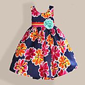 Vestido Chica de Casual/Diario Floral Algodón Sin Mangas Primavera Verano