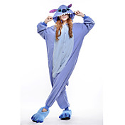 Pijamas Kigurumi Monstruo azul / Monster Pijamas de una pieza Disfraz Lana Polar Azul Cosplay por Adulto Ropa de Noche de los Animales