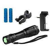 ZK10 Linternas LED LED 1100 lm 5 Modo Cree XM-L T6 con pila y cargador Zoomable Enfoque Ajustable Resistente a Golpes Empuñadura Anti