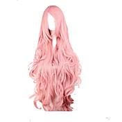 Mujer Pelucas sintéticas Muy largo Suelto Rosa Parte lateral Con flequillo peluca de vestuario Peluca de Halloween Peluca de carnaval Las