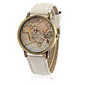 Masculino Relógio de Moda Relógio de Pulso Quartzo / PU Banda Vintage Legal Casual Padrão Mapa do Mundo PretaAmarelo Marron Vermelho