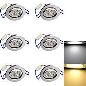 Luces Empotradas Descendentes 3 leds LED de Alta Potencia Decorativa Blanco Cálido Blanco Fresco 3000/6000lm 3000K/6000KK AC 85-265 AC