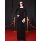 Funda / Columna Hasta el Suelo Jersey Evento Formal Vestido con Plisado por TS Couture®
