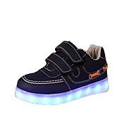 Hombre / Mujer / Unisex Zapatos Semicuero Primavera Confort / Zapatos con luz Zapatillas de deporte Cinta Adhesiva / LED para Azul marino