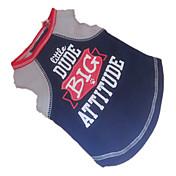 Perro Camiseta Ropa para Perro Transpirable Letra y Número Azul Oscuro Disfraz Para mascotas