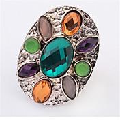 指輪 女性用 クリスタル 合金 合金 調整可 銀 装飾物のカラーは画像をご参照ください.