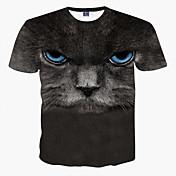 Hombre Deportes Tallas Grandes Estampado - Camiseta Estampado Animal