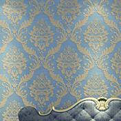 ダマスク柄 壁紙 ラグジュアリー ウォールカバーリング , 不織布ペーパー 材料 接着剤必要 壁紙 , ルームWallcovering