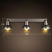 metal& lámpara de pared de vidrio, blanco o plateado de alta calidad