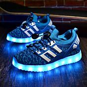 Para Niño-Tacón Plano-Confort Light Up Zapatos-Zapatillas de deporte-Deporte-Tejido-Negro Azul Real