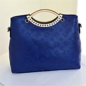 女性 バッグ オールシーズン PU トート イブニングバッグ のために ショッピング カジュアル ブラック フクシャ ブルー