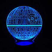 toque atenuación 3d llevó la luz de la noche 7colorful decoración atmósfera lámpara novedad luz de iluminación