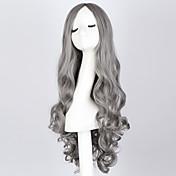 Mujer Pelucas sintéticas Sin Tapa Ondulado Gris Pelucas sin tapa Peluca de Halloween Peluca de carnaval Las pelucas del traje