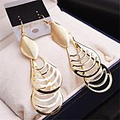Pendiente Forma Oval Joyas 1 par Moda Boda / Fiesta / Casual Legierung / Chapado en Oro Mujer / Niñas Dorado / Plateado