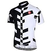 KEIYUEM Maillot de Ciclismo Unisex Manga Corta Bicicleta Camiseta/Maillot Top Secado rápido Resistente a los UV Cremallera delantera