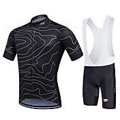 Fastcute Camisa com Bermuda Bretelle Homens Mulheres Unisexo Manga Curta Moto Calções Bibes Pulôver Camisa/Roupas Para Esporte Tights Bib